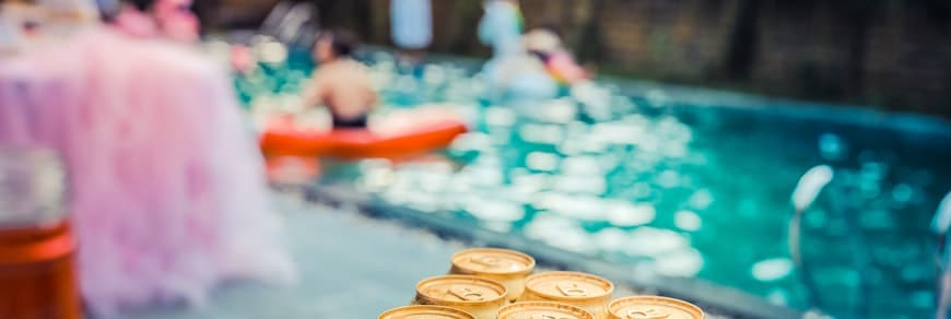 festa di 30 anni in piscina