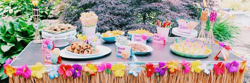 festa hawaiana cibo e bevande