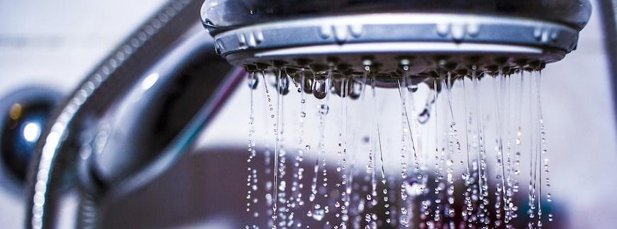 il dado nel soffione della doccia