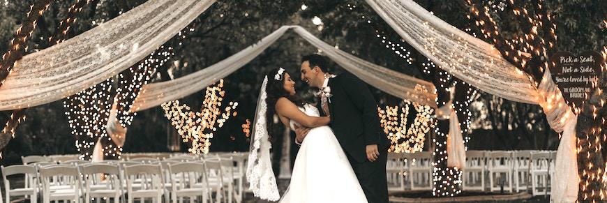 location per ricevimento di matrimonio all'aperto