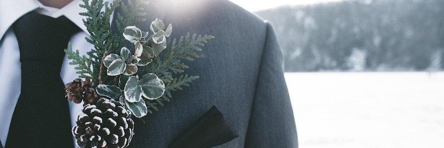 abito da sposo invernale